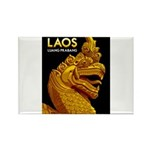 Laos Vintage Travel Print Magnets