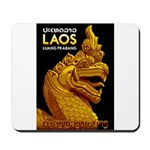 Laos Vintage Travel Print Mousepad