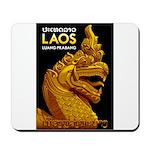 Laos Vintage Travel Print Mousepad