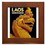 Laos Vintage Travel Print Framed Tile