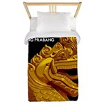Laos Vintage Travel Print Twin Duvet