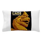 Laos Vintage Travel Print Pillow Case