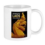 Laos Vintage Travel Print Mugs