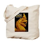 Laos Vintage Travel Print Tote Bag
