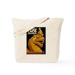 Laos Vintage Travel Print Tote Bag