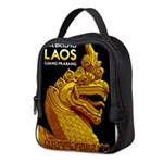Laos Vintage Travel Print Neoprene Lunch Bag