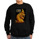 Laos Vintage Travel Print Sweatshirt