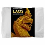 Laos Vintage Travel Print Pillow Sham
