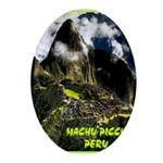 Machu Picchu Vintage Travel Advertising Print Oval