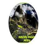 Machu Picchu Vintage Travel Advertising Print Oval