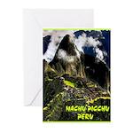 Machu Picchu Vintage Travel Advertising Print Gree
