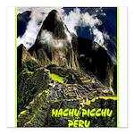 Machu Picchu Vintage Travel Advertising Print Squa
