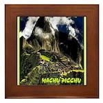 Machu Picchu Vintage Travel Advertising Print Fram