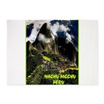 Machu Picchu Vintage Travel Advertising Print 5'x7