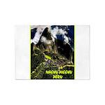 Machu Picchu Vintage Travel Advertising Print 5'x7