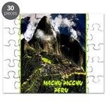 Machu Picchu Vintage Travel Advertising Print Puzz
