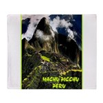 Machu Picchu Vintage Travel Advertising Print Thro