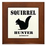 Squirrel Hunter Framed Tile