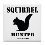 Squirrel Hunter Tile Coaster