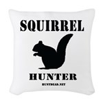 Squirrel Hunter Woven Throw Pillow