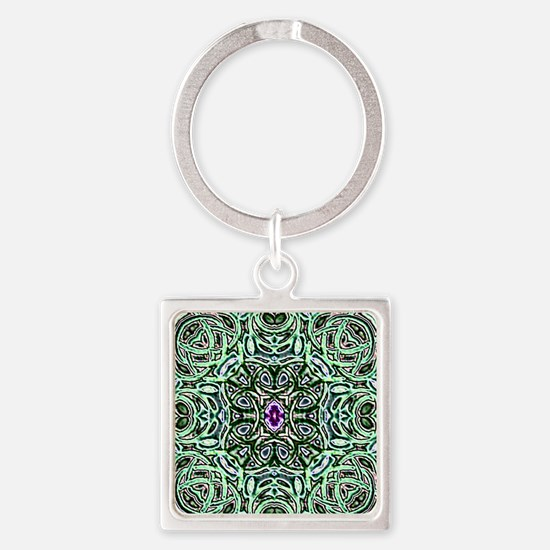 Cute Celtic knot Square Keychain