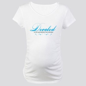 Devoted To My Man Behind The  Maternity T-Shirt