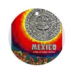 Mexico Vintage Travel Advertising Print Round Orna