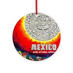 Mexico Vintage Travel Advertising Print Round Orna
