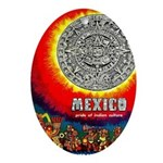 Mexico Vintage Travel Advertising Print Oval Ornam