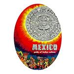 Mexico Vintage Travel Advertising Print Oval Ornam