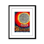 Mexico Vintage Travel Advertising Print Framed Pan
