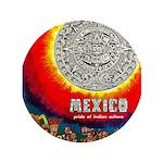 Mexico Vintage Travel Advertising Print Button