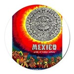 Mexico Vintage Travel Advertising Print Round Car