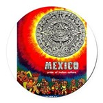 Mexico Vintage Travel Advertising Print Round Car