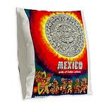 Mexico Vintage Travel Advertising Print Burlap Thr