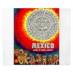 Mexico Vintage Travel Advertising Print King Duvet