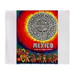 Mexico Vintage Travel Advertising Print Throw Blan