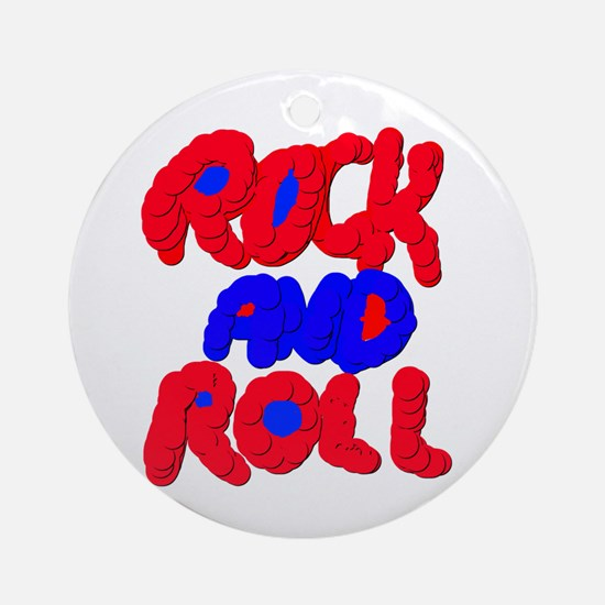 ROCK AND ROLL Round Ornament