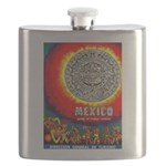 Mexico Vintage Travel Advertising Print Flask