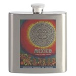 Mexico Vintage Travel Advertising Print Flask
