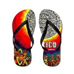 Mexico Vintage Travel Advertising Print Flip Flops
