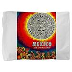 Mexico Vintage Travel Advertising Print Pillow Sha