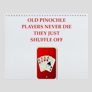 Pinochle Players Wall Calendar