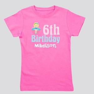 6th Birthday Tea Party Girl's Tee