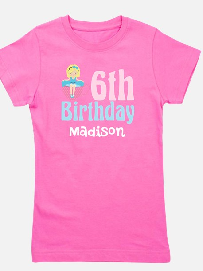 6th Birthday Tea Party Girl's Tee