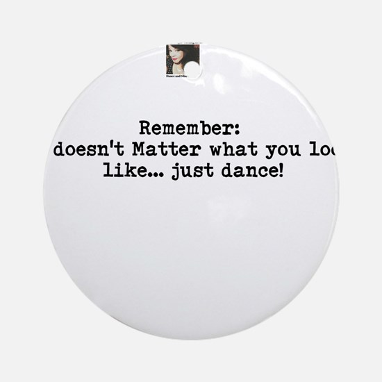 Just Dance! Round Ornament