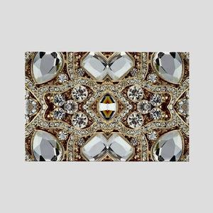 champagne gold rhinestone bohemian Magnets
