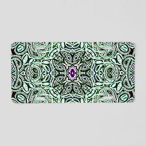 Metallic Celtic Knot Aluminum License Plate