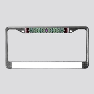 Metallic Celtic Knot License Plate Frame