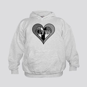 Distressed Gym Heart T Shirt Hoodie